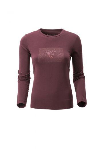 WO ARAL PRINT LS T-SHIRT 女款长袖 T 恤