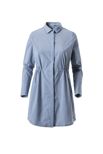WO ESTONIA LS T-SHIRT 女长款棉麻感长袖衬衣